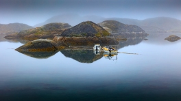 Peaceful Morning in the little Harbor of Sisimiut.