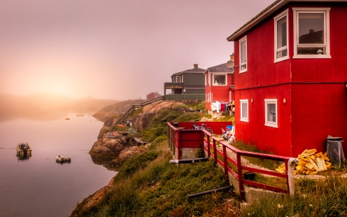 Early morning in Sisimiut ,Greenland